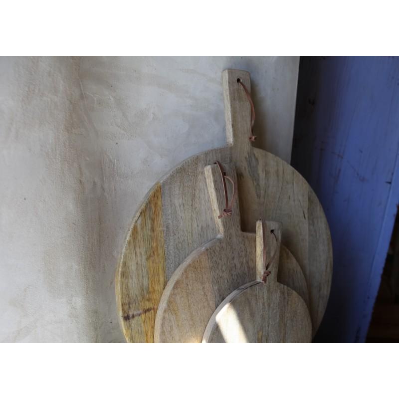 Planche pizza ou d couper en bois de manguier b do for Bois de manguier