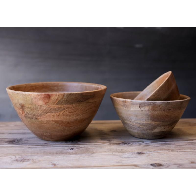 Saladier indus en bois de manguier b do objets de for Bois de manguier
