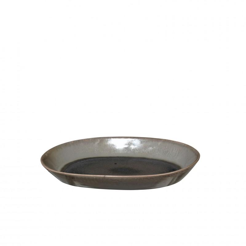 plat oval en gr s gris laust b do. Black Bedroom Furniture Sets. Home Design Ideas