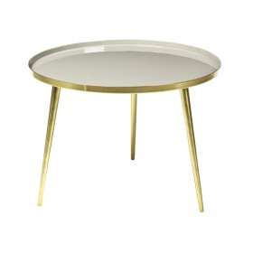 Table Basse JELVA Taupe/Doré