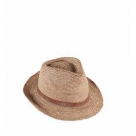Chapeau en raphia SALINO Thé
