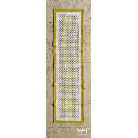NAPPE COTON 100% BLOCK-PRINT 270 cm x 170 cm - OCTOGONAL N°2