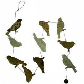 Guirlande Lamali Pois Forêt Oiseaux Batik
