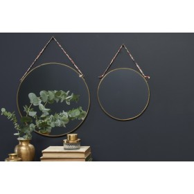 Miroir rond en laiton
