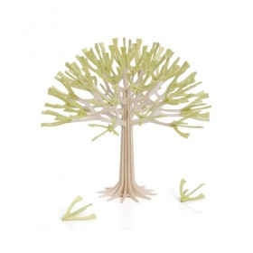 CARTE POSTALE ARBRE 3D LOVI 11.5 cm Natural Wood, Pale Green