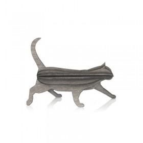 Carte Postale Chat gris 12 cm
