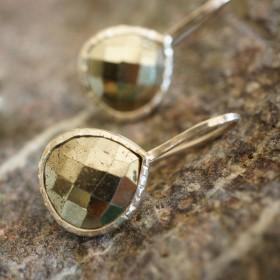 Boucles d'oreilles en argent et pierre fine Aqua Chelcy