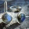 Boucles d'oreilles argent et pierre fine Quartz