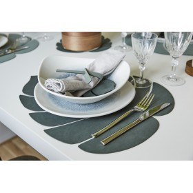 Set de Table MONSTERA NUPO en Cuir Recyclé