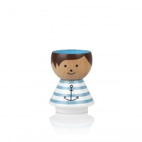 Coquetier en bois Boy Sailor Lucie Kaas