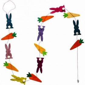 Guirlande Lapins & carottes Lamali