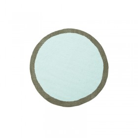 Tapis rond bicolore en feutre Bleu minéral Muskhane