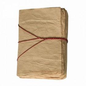 Carnet en Cuir et Papier Lokta PELERIN