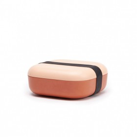 Boîte à goûter bicolore en Fibre de Bambou Blush Terracota