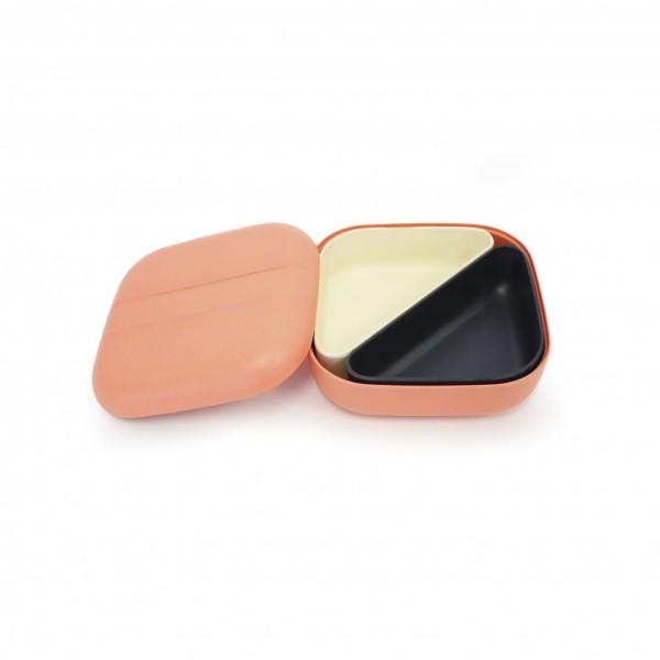Boîte à Bento Lunch Box Carrée en Fibre de Bambou Coral