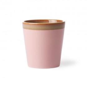 Tasse en grès 70'S PINK