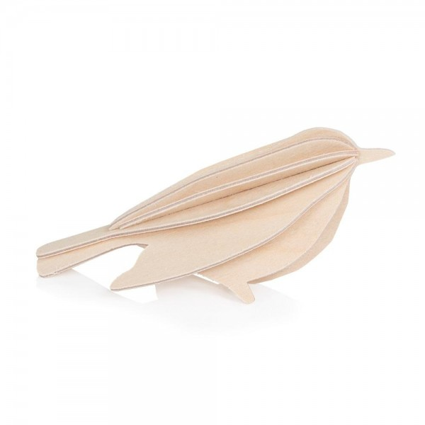 CARTE POSTALE BIRD NATUREL 8 CM
