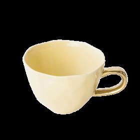 Tasse Déjeuner en porcelaine jaune pastel