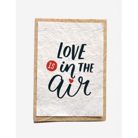 Carte Ensemencée LOVE IS IN THE AIR