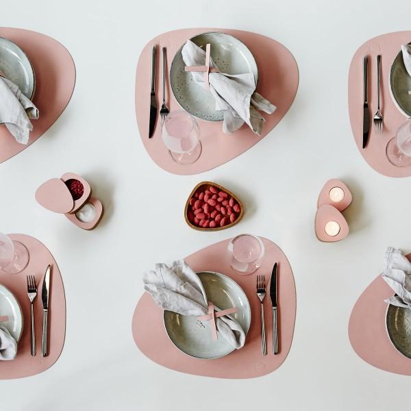 Set de Table Curv en Cuir Recyclé ROSE