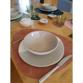 Set de Table Curv en Cuir Recyclé BLUSH
