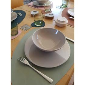 Set de Table Curv en Cuir Recyclé OLIVE