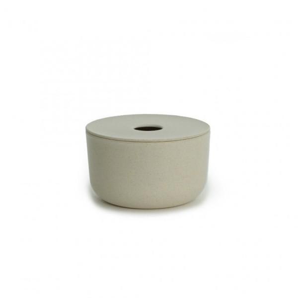Boite de rangement en Fibre de Bambou GUSTO Mandarine 20x20x8 cm