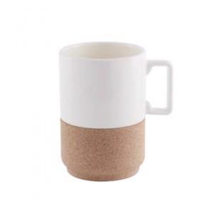 Grand mug en liège et céramique