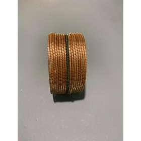 Bracelet or végétal manchette fil vert