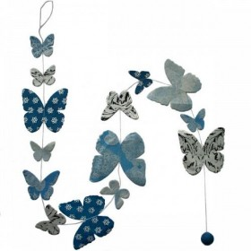 Guirlande Lamali Papillons Bleue